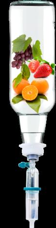 bottle of fruits